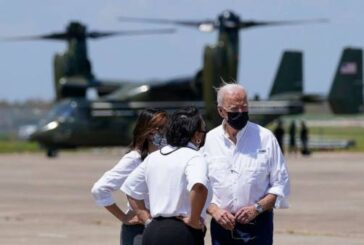 President Biden surveys Hurricane Ida damage in New Orleans