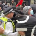 Antifa Protesters Clash With Met Police At Anti-Migrant Rally in London – Videos